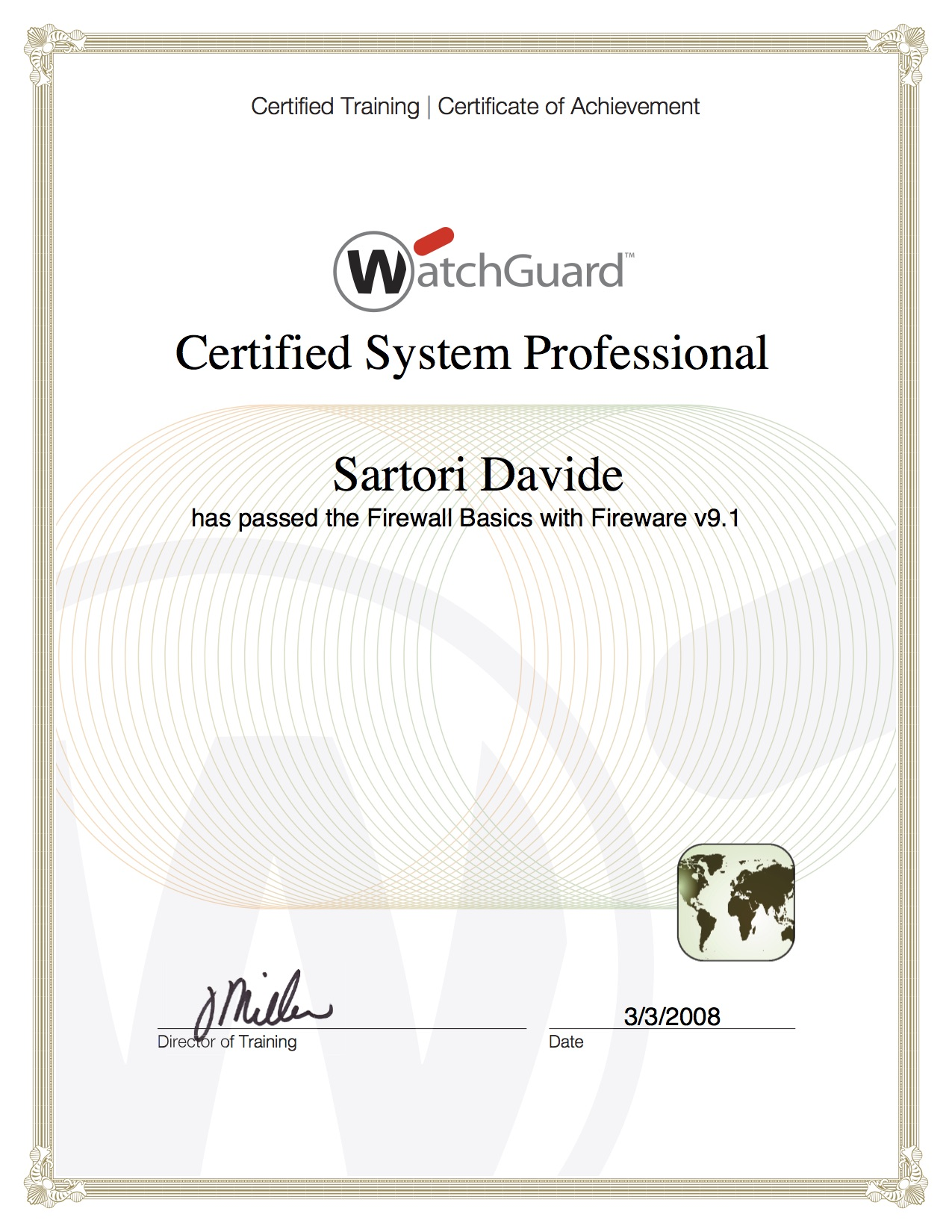 WathGuard Certified System Professional