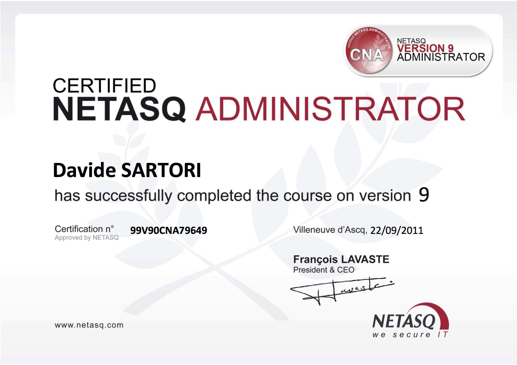 Netasq Certified Administrator