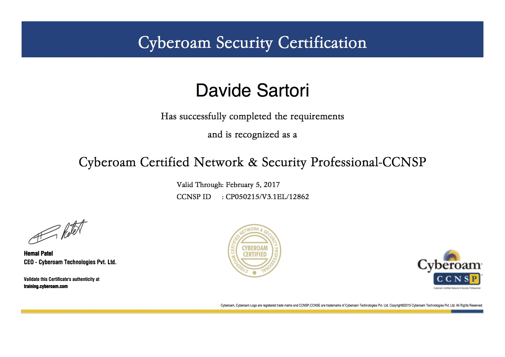Cyberoam Certified Network & Security Professional CCNSP