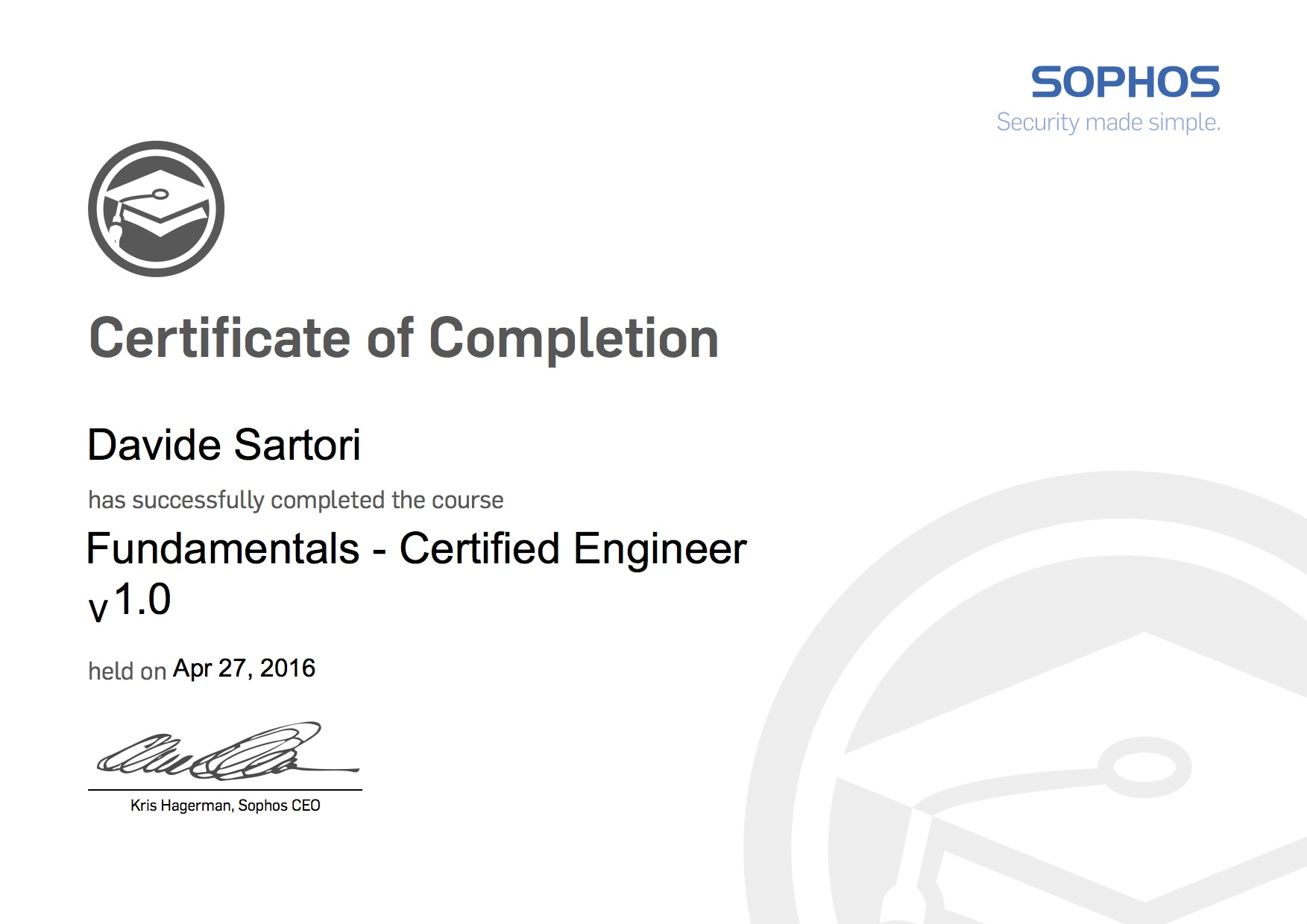 Sophos Fundamentals Certified Engineer