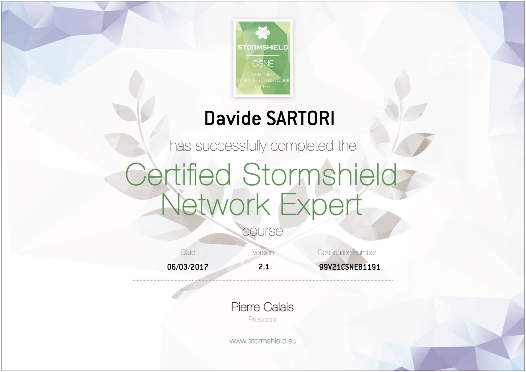 Stormshield Certified Network Expert