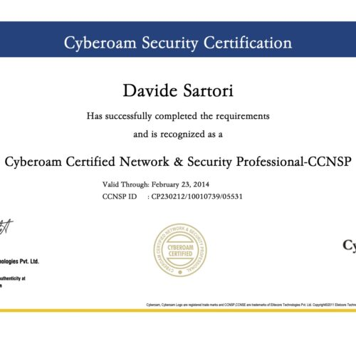 Cyberoam Security Certification