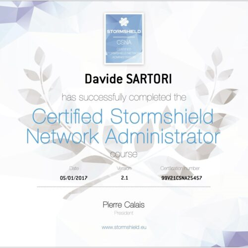 Stormshield Certified Network Administrator