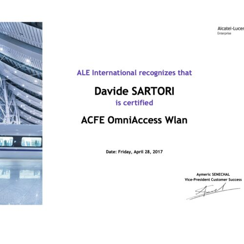 Alcatel Lucent ACFE OmniAccess WLan