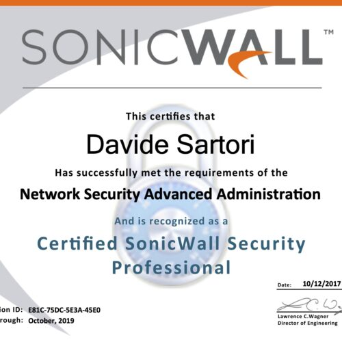 Sonicwall Certified Security Professional