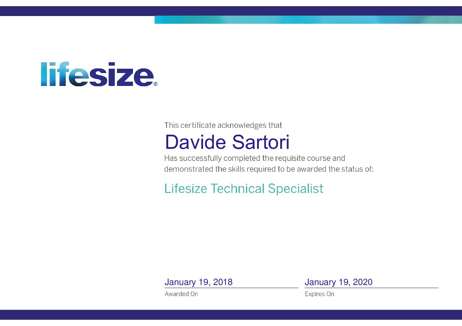 Lifesize Technical Specialist