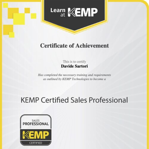 Kemp Certified Sales Professional