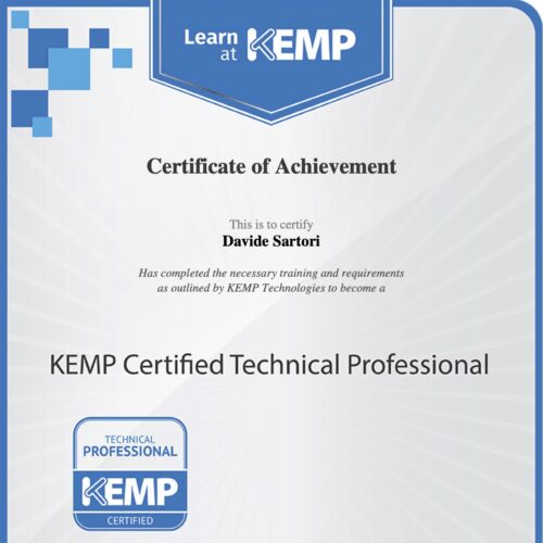 Kemp Certified Technical Professional