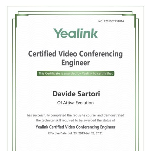 Yealink Certified Video Conferencing Engineer