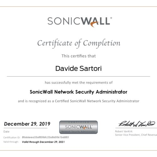 Sonicwall Network Security Administrator