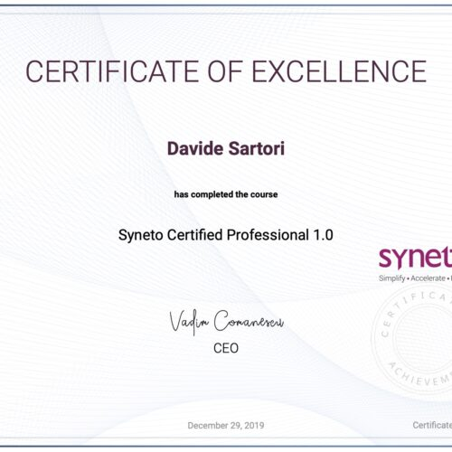 Syneto Certified Professional