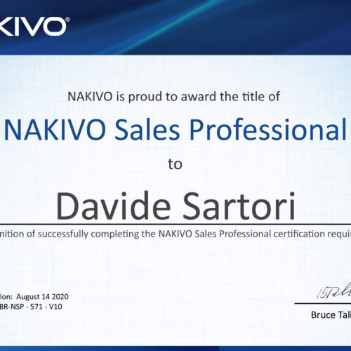 Nakivo Sales Professional