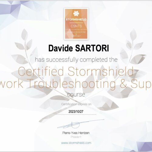 Stormshield Certified Network Troubleshooting and Support